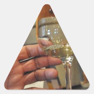 ワインZaz.JPGの手 三角形シール