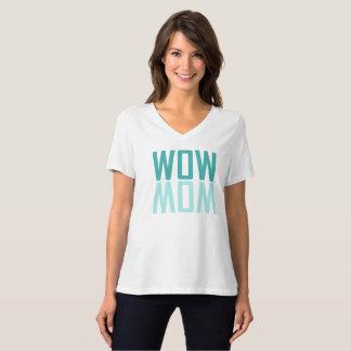 ワウのお母さんBella+キャンバスによってリラックスされる適当なV首のTシャツ Tシャツ