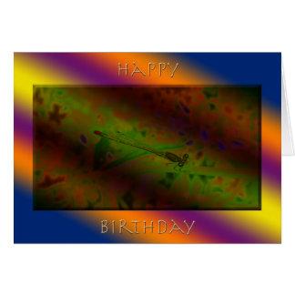 ワウのイトトンボの誕生日 カード