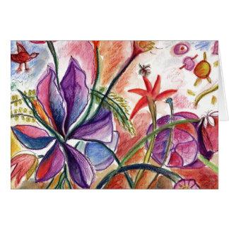 ワウの蘭の挨拶 カード
