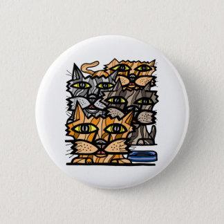 """""""ワウ猫の鳴き声""""の円形ボタン 5.7CM 丸型バッジ"""