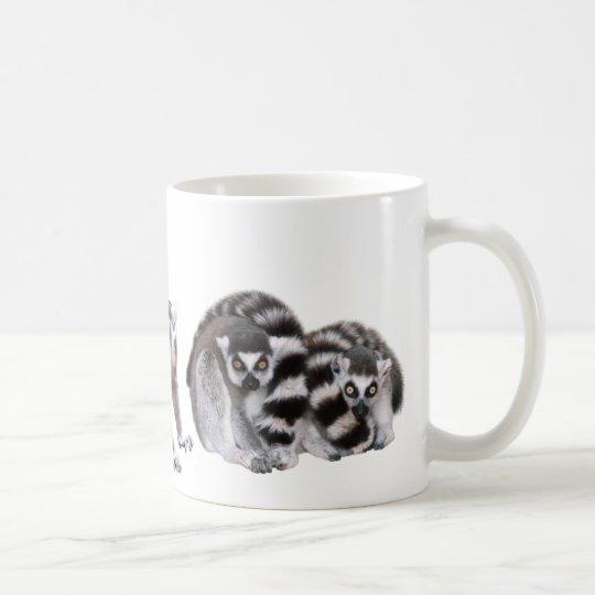 ワオキツネザルのマグカップ コーヒーマグカップ