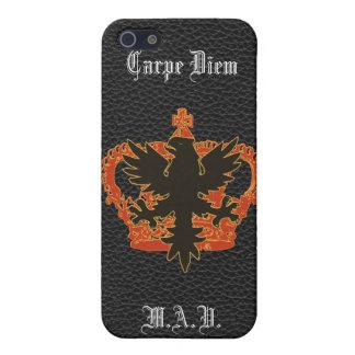 ワシおよび王冠のCarpe黒いDiemのiPhone iPhone SE/5/5sケース