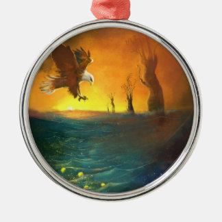 ワシおよび金海の絵画のオーナメント メタルオーナメント