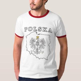 ワシが付いているポルスカの地図 Tシャツ