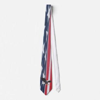 ワシが付いている愛国心が強い米国の旗 オリジナルネクタイ