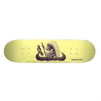 ワシのグラフィックアートのカッコいいのスケートボードを持つインディアン 20.6CM スケートボードデッキ