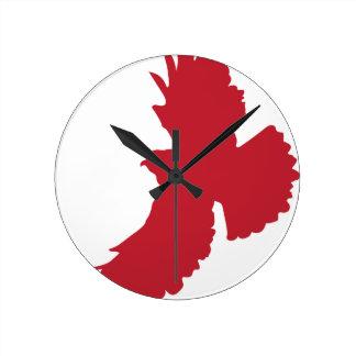 ワシのシルエット ラウンド壁時計