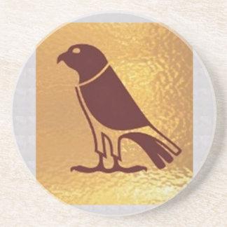 ワシのタカフクロウのグラフィックアート金肉食鳥 コースター