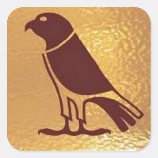 ワシのタカフクロウのグラフィックアート金肉食鳥 スクエアシール