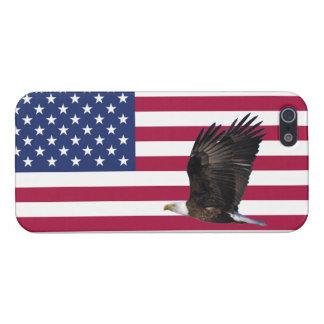 ワシの光沢のある精通したiPhone 5の米国旗 iPhone 5 Cover