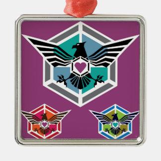 ワシの多角形のロゴのベクトル メタルオーナメント