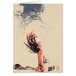 ワシの精神、ビキニの抽象美術のセクシーな女の子 カード
