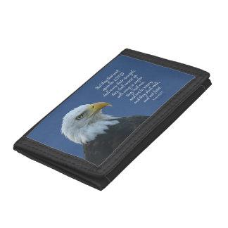 ワシの翼の財布 ナイロン三つ折りウォレット