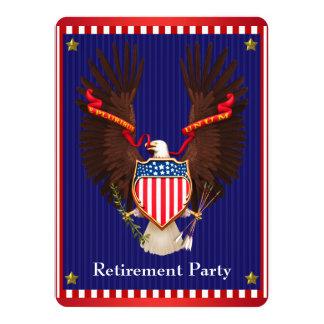 ワシの軍の退職パーティ 14 X 19.1 インビテーションカード
