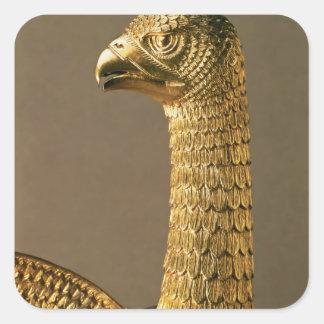 ワシの頭部、12世紀なornamentaの詳細 スクエアシール