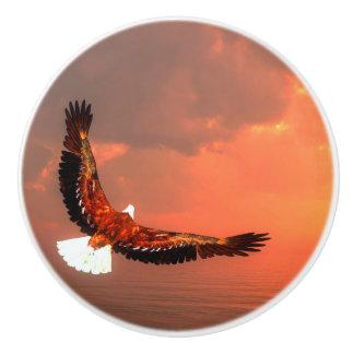 ワシの飛行- 3Dは描写します セラミックノブ