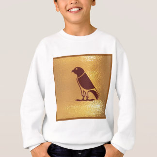 ワシの《鳥》ハヤブサのタカ金肉食鳥 スウェットシャツ