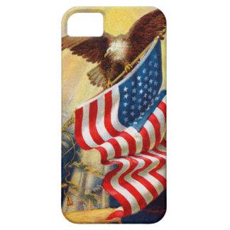 ワシまたは旗との穹窖のやっとそこにiphone 5の場合 iPhone SE/5/5s ケース