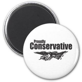 ワシを持つ得意気に保守主義者 マグネット