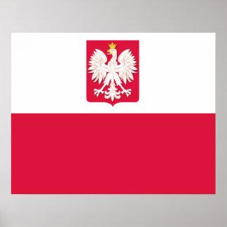 ワシポスターが付いているポーランドの旗 ポスター