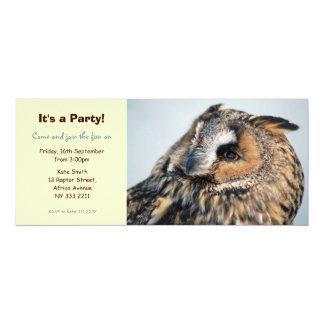 ワシミミズクのパーティの招待状 カード