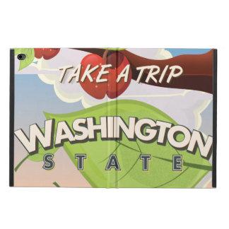 ワシントン州のりんごの木旅行ポスター漫画 POWIS iPad AIR 2 ケース