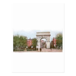 ワシントン州のアーチ、ワシントン州スクエア、ニューヨーク ポストカード