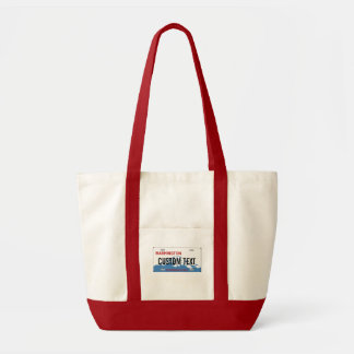 ワシントン州のカスタムなナンバープレートのバッグ トートバッグ