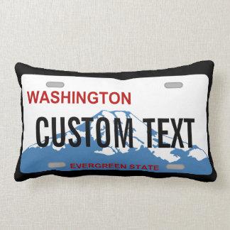 ワシントン州のカスタムなナンバープレートの枕 ランバークッション