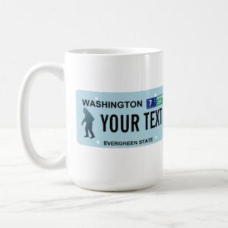 ワシントン州のサスカッチのナンバープレート コーヒーマグカップ