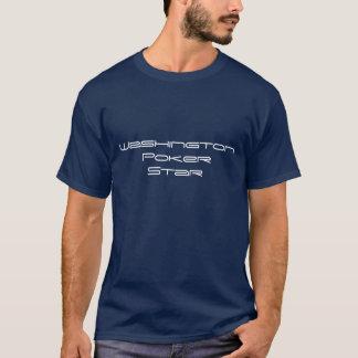 ワシントン州のトランプのポーカーの星 Tシャツ