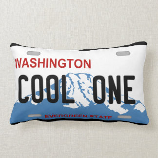 ワシントン州のナンバープレートのカッコいい1つの枕 ランバークッション