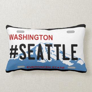 ワシントン州のナンバープレートのシアトルの枕 ランバークッション