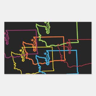 ワシントン州のプライドの汚点 長方形シール