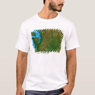 ワシントン州の地図 Tシャツ