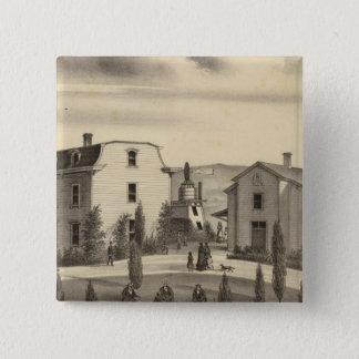 ワシントン州の大学、Calif 5.1cm 正方形バッジ