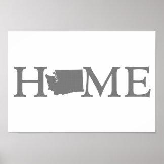 ワシントン州の故郷の州の単語の芸術 ポスター