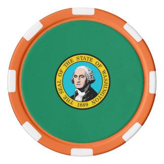 ワシントン州の旗のデザイン ポーカーチップ