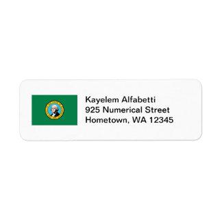 ワシントン州の旗の差出人住所ラベル ラベル
