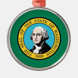 ワシントン州の旗 メタルオーナメント