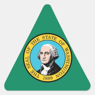 ワシントン州の旗 三角形シール