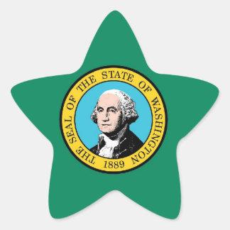 ワシントン州の旗 星シール