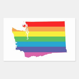 ワシントン州の虹 長方形シール