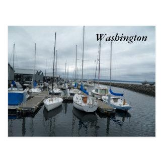 ワシントン州の郵便はがきのボート ポストカード