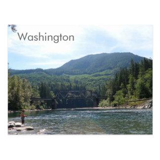 ワシントン州の郵便はがきの川 ポストカード