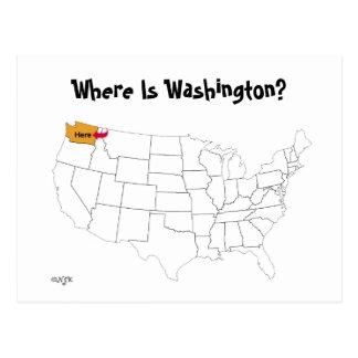 ワシントン州はどこにありますか。 ポストカード
