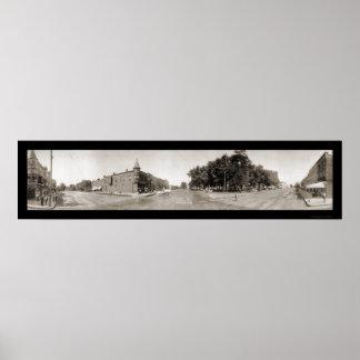 ワシントン州アイオワのパノラマの写真1907年 ポスター