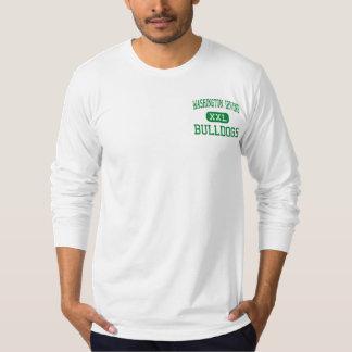 ワシントン州アービング-ブルドッグ-高ニューヨーク Tシャツ