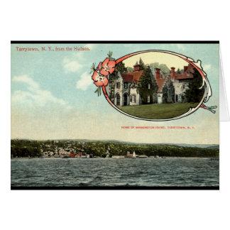 ワシントン州アービング、TarrytownのNYのヴィンテージc1915 カード